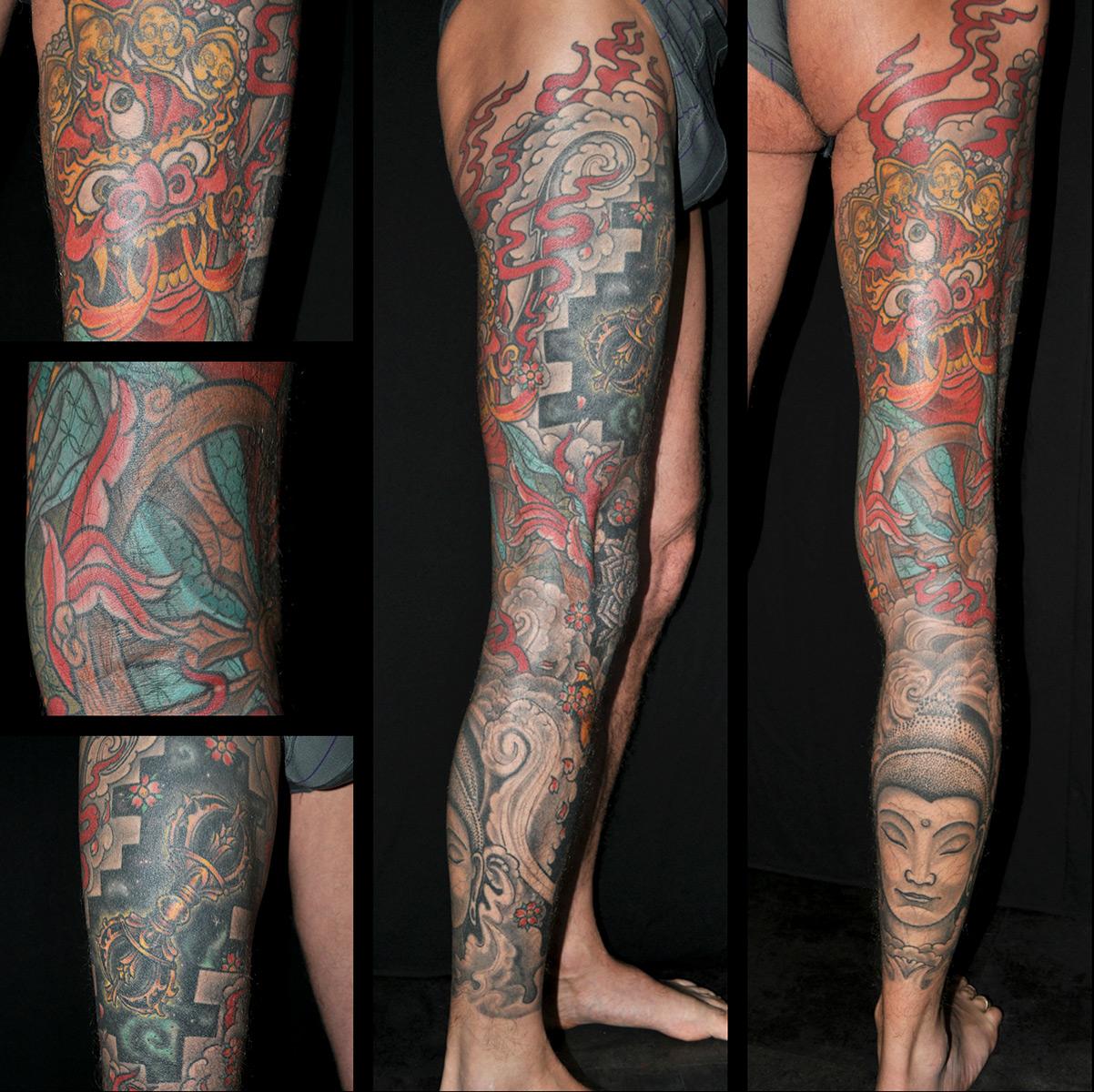 Tattoo Bein