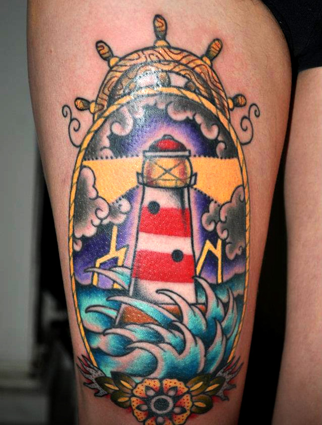 Tattoo Leuchtturm